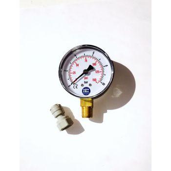 Μανόμετρο πίεσης νερού με σύνδεσμο 1/4''