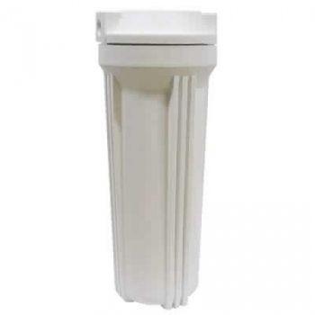 Θήκη προφίλτρων 10'' λευκή  με σπείρωμα 1/2''